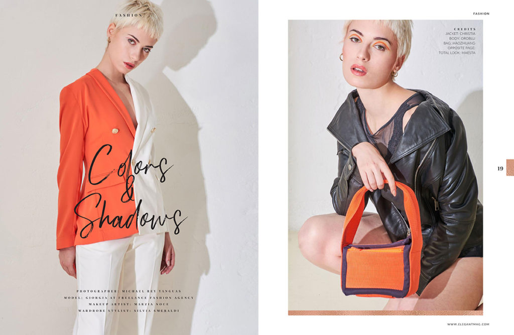 COLORS & SHADOWS: EDITORIALE MODA SU ELEGANT MAGAZINE