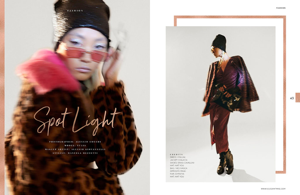 SPOT LIGHT:OUR FUR COATS ON ELEGANT MAGAZINE